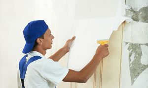 Wallpaper removal services in Greenville